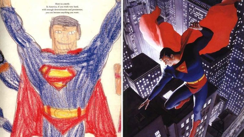 Superman alex ross comparativa