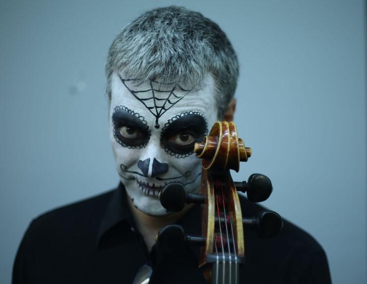 Violinista catrina mascara