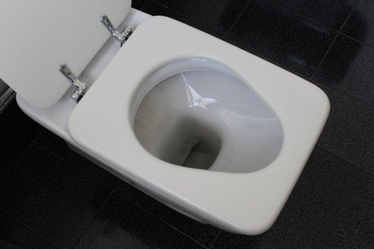 Wc inodoro blanco de porcelana