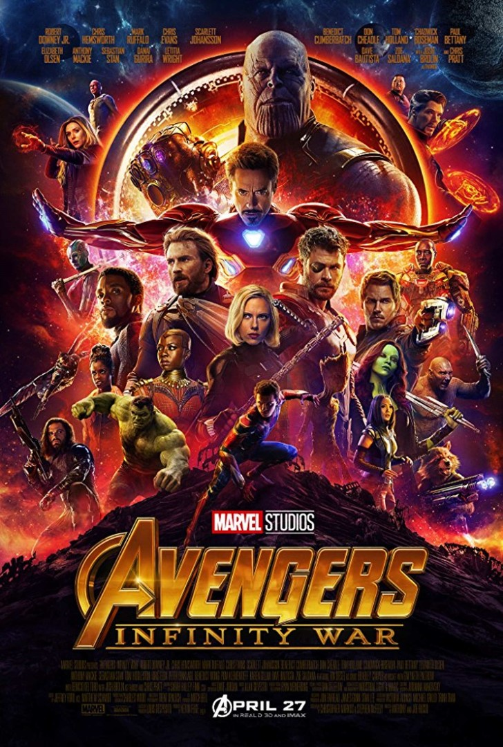 Avengers infinity wars poster
