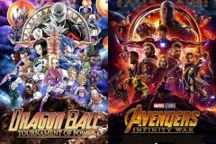 Dragon ball tournament of power vs avengers infinity war posters