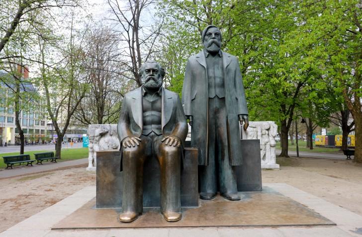 Marx engels forum, mitte, berlin.