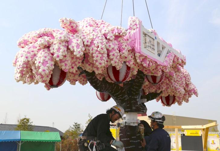 Arbol cerezo lego japon (6)