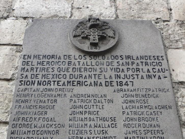 En memoria de los soldados irlandeses