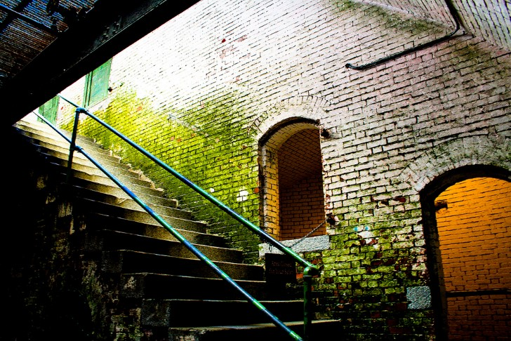 Escaleras en alcatraz
