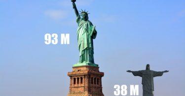 Estatua de la libertad y cristo redentor