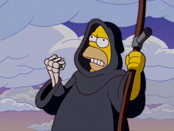 Hombre simpson es la muerte