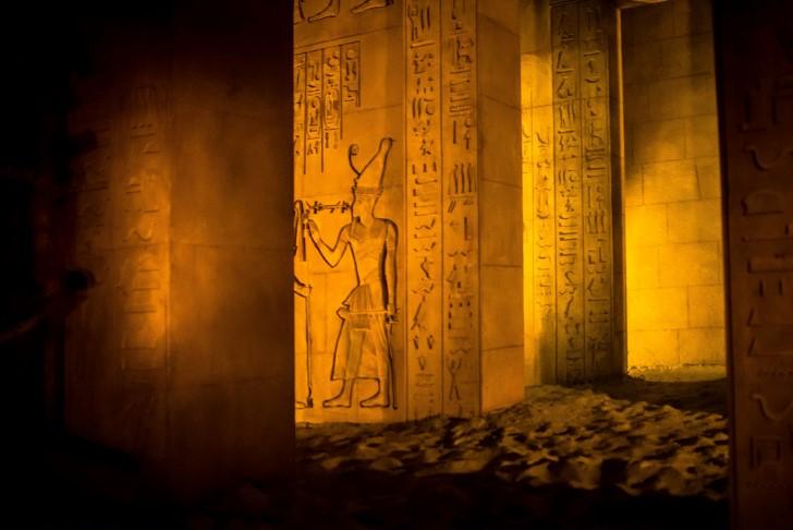 Interior de las tumbas piramides egipto