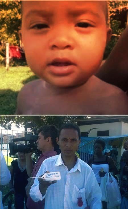 Niño muerto despierta en brasil