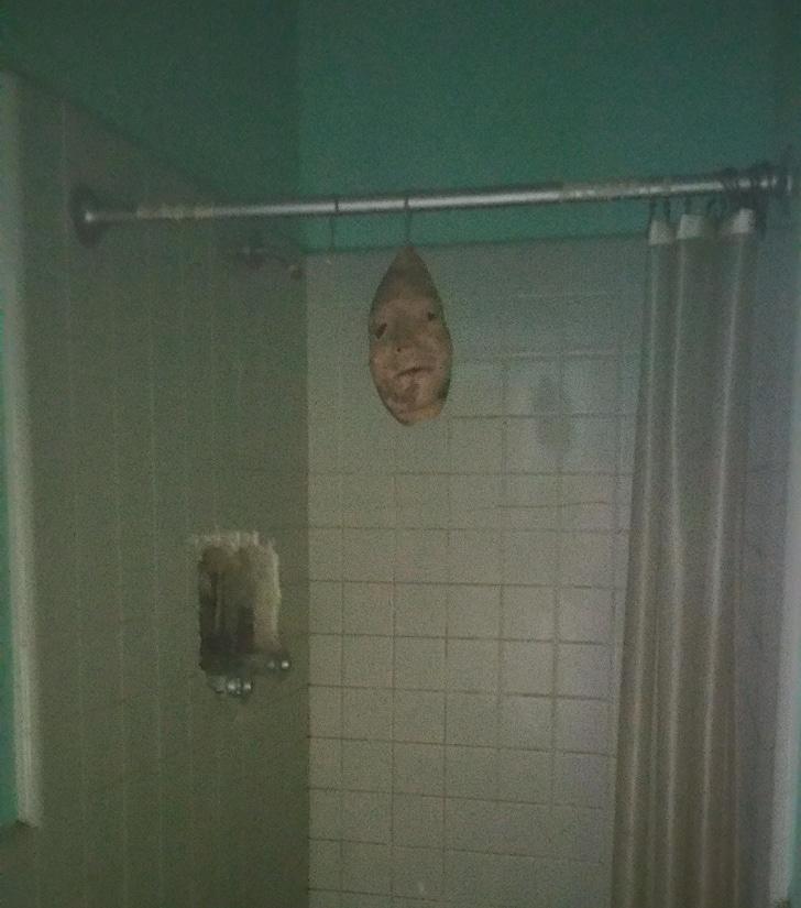 Perturbador mascara baño