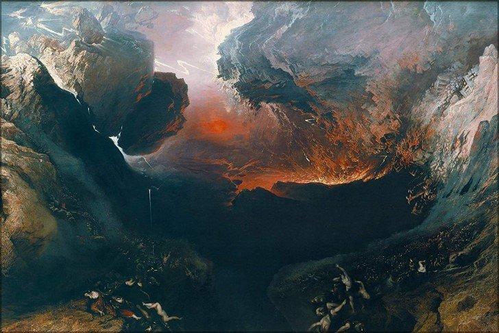 El gran día de su ira. john martin (1851)
