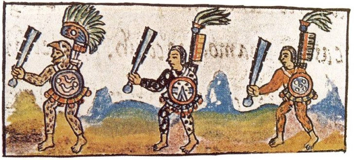 Historia general de las cosas de nueva españa guerreros portan macuahuitls