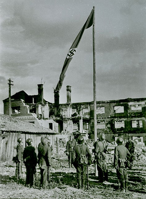 Bandera nazi en stalingrado