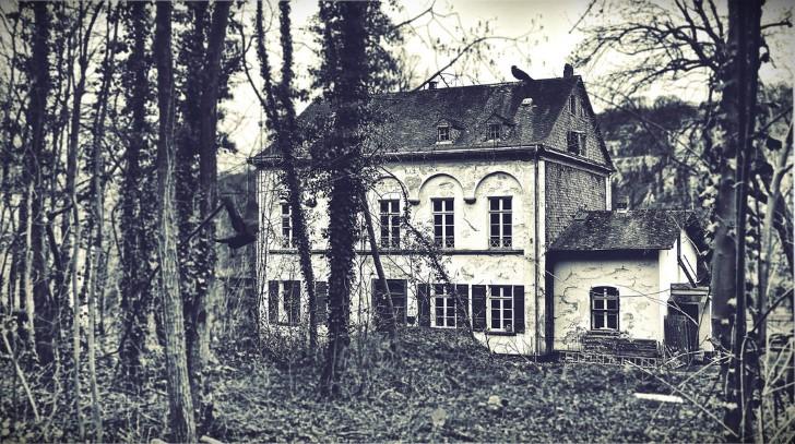 Casa antigua en el bosque