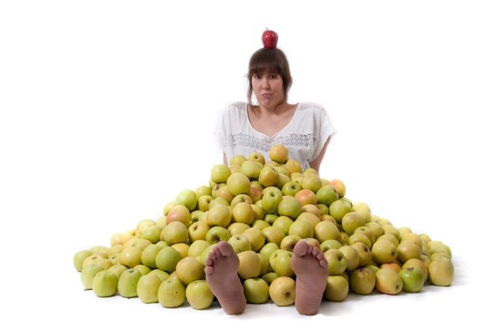 Cubierta de manzanas mujer