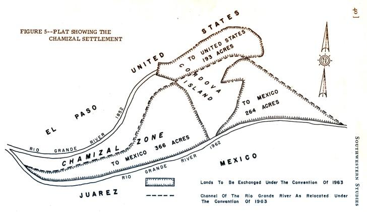 Mapa del chamizal
