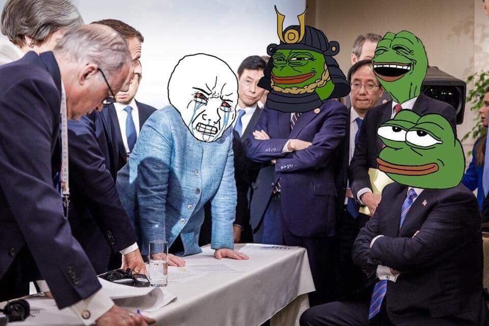 Memes fotografia trump merkel g7 (12)