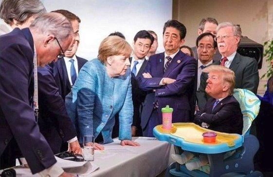Memes fotografia trump merkel g7 (6)