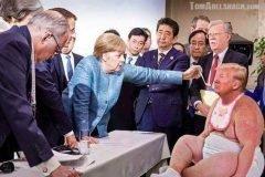 Memes fotografia trump merkel g7 (8)