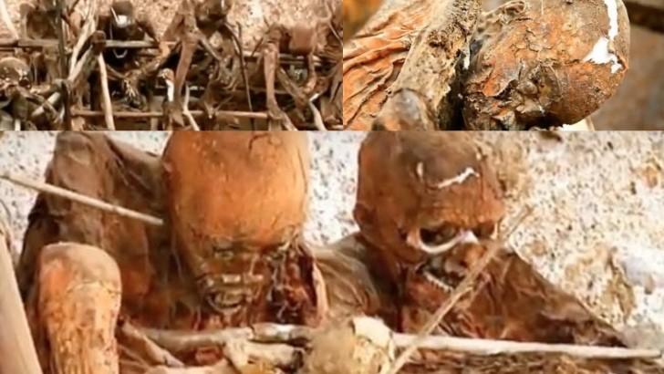 Momias de los aseki en papua nueva guinea