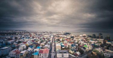 Nubes de tormenta en islandia