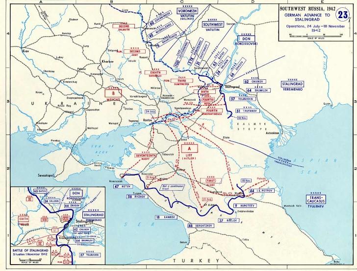Ofensiva alemana al sur de rusia noviembre 1942