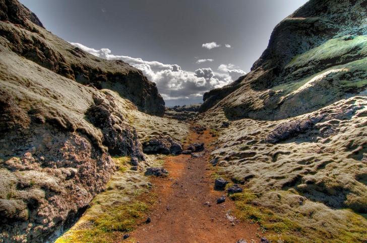 Paisaje volcacino islandia