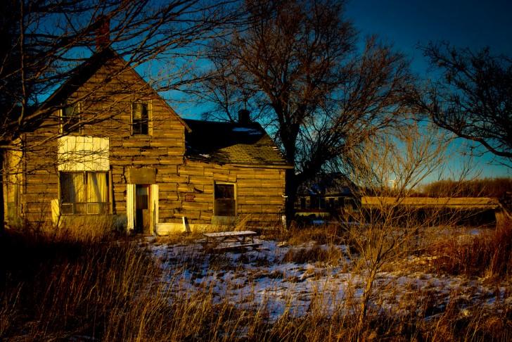 Casa de campo en el bosque