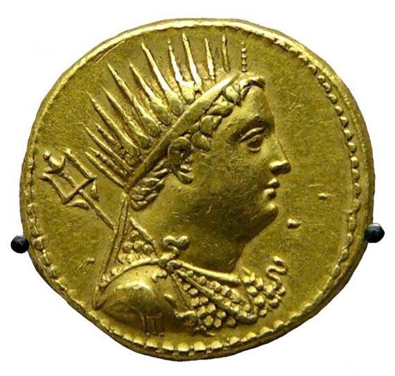Moneda del rey ptolomeo iii