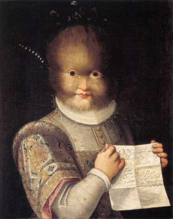 Antoinetta gonsalvus hija de petrus pintura por lavinia fontana