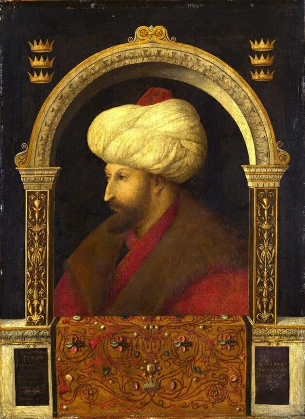 Cuadro el sultán mehmed ii, retrato del conquistador