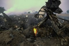 Fierros retorcidos colison aerea charkhi dadri