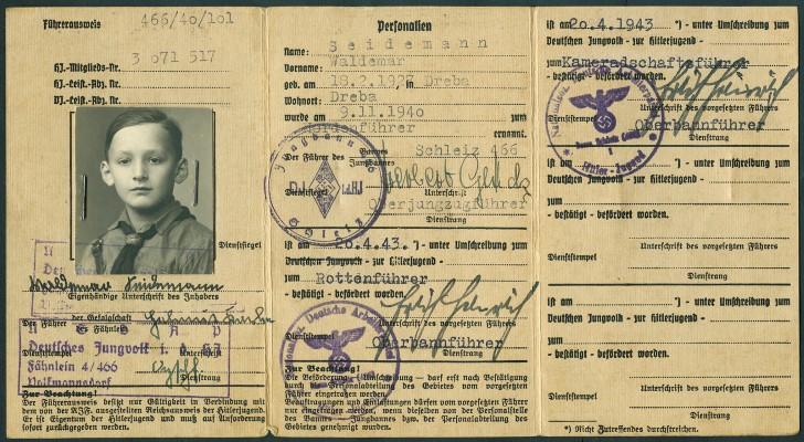 Führerausweis der hitler jugend
