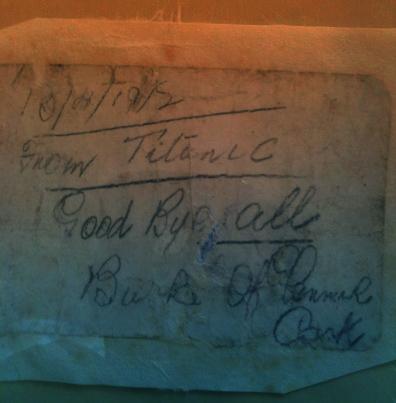Jeremiah burke mensaje desde el titanic