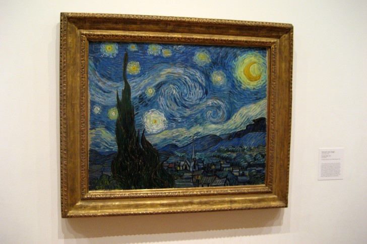 La noche estrellada exhibida en el moma