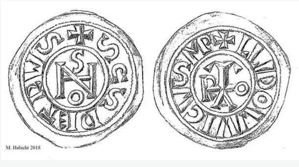 Monedas de luis ii y iohannes anglicus