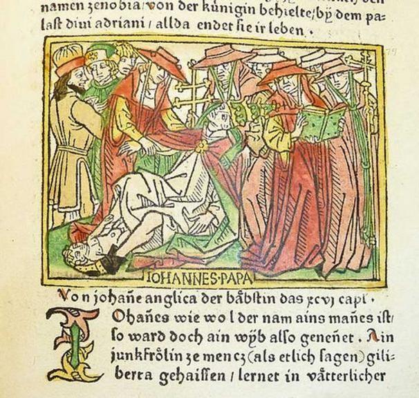 Papisa juana ilustracion 1473