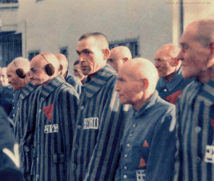 Prisioneros campo de concentracion sachsenhausen alemania 1938