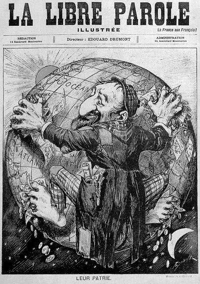 1893 la libre parole publicidad antisemita
