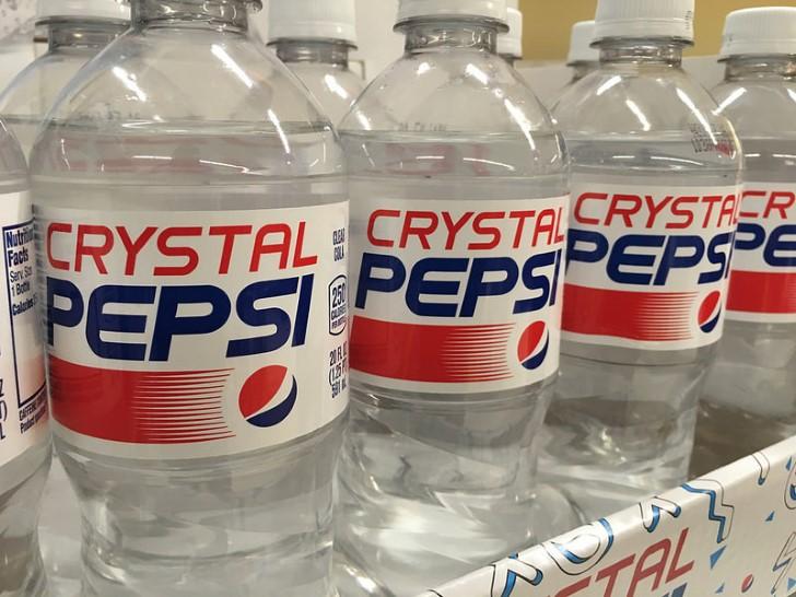 crystal pepsi botellas plastico