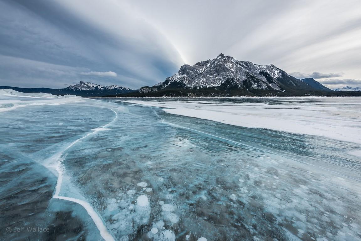 lago abraham en alberta canada