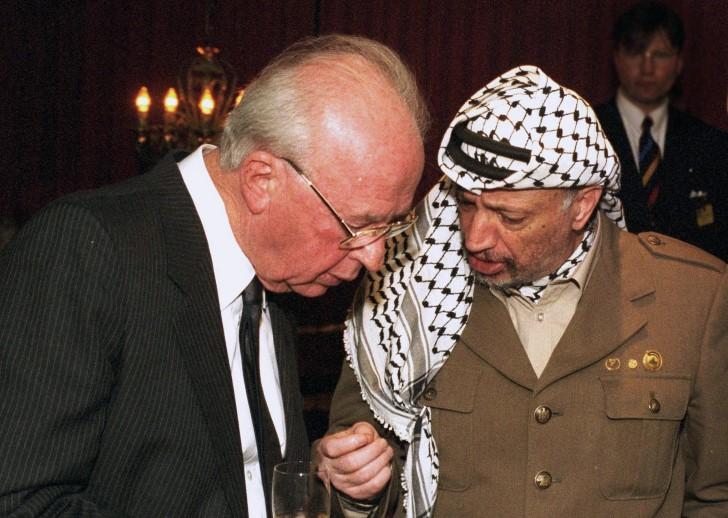 yitzhak rabin y yasir arafat