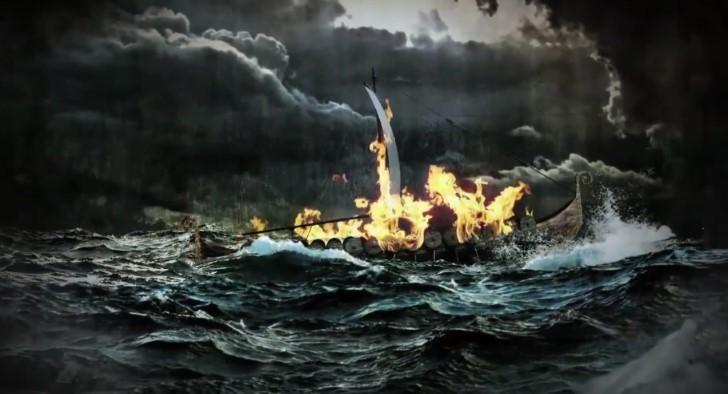 barco vikingo funeral