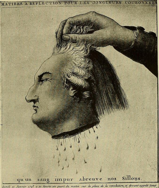 cabeza cortada de luis xvi
