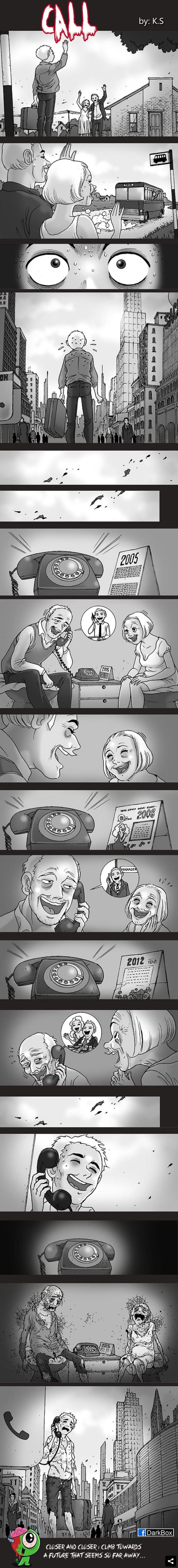 comic de terror la llamada