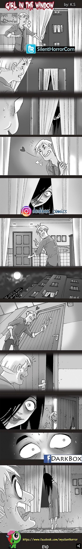 comic de terror la mujer en la ventana(1)