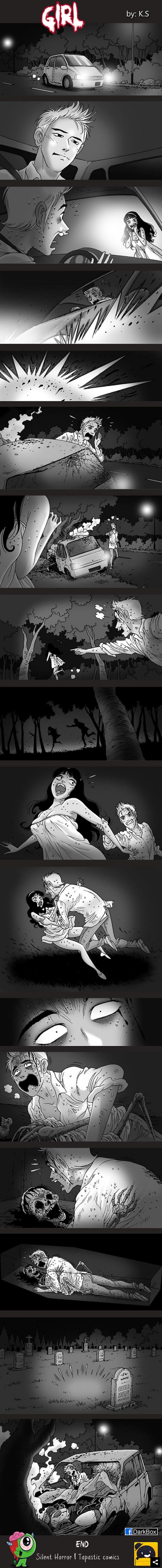 comic de terror mujer de blanco