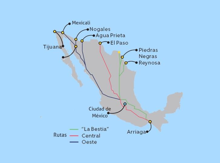 rutas de los coyotes