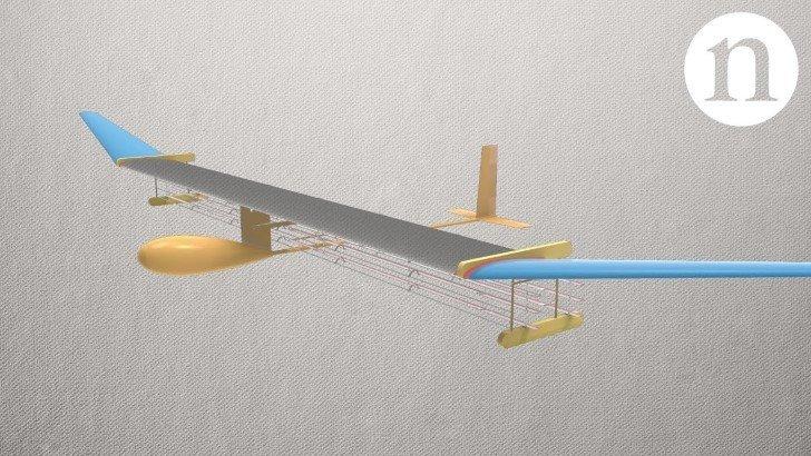Avion impulsado por viento ionico