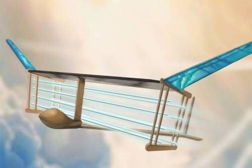 Avion sin partes moviles